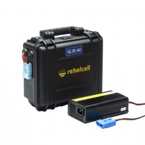 Rebelcell Outdoorbox 12.35 AV (met 12V35 AV li-ion accu) 9.0-12.6V
